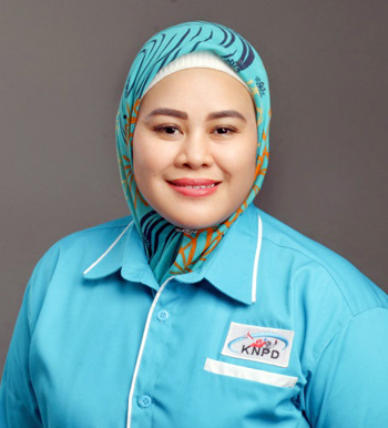 Ketua KNPD DPC KBB Nungky Dinawati. Fotoist