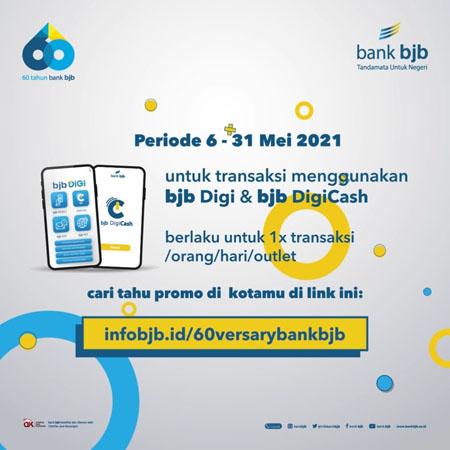 Rayakan HUT ke 60 bank bjb Gelar Promo di Ratusan Merchant 2