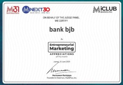 KPR Gaul bank bjb Mendapat Penghargaan MarcPlus